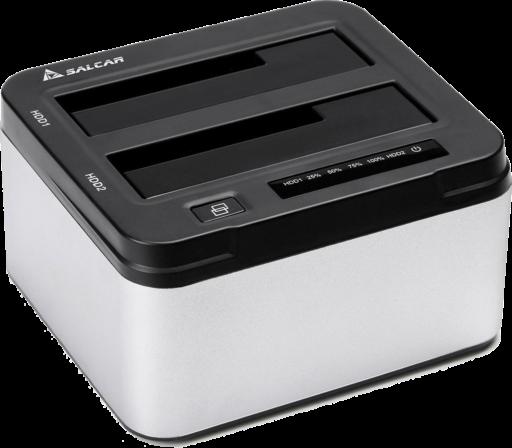 Salcar USB3.0 2.5/3.5型 SATA HDD/SSDスタンド UASP対応 パソコンなしで丸ごとコピー 8TB*2対応 アルミ筐体 1年保証