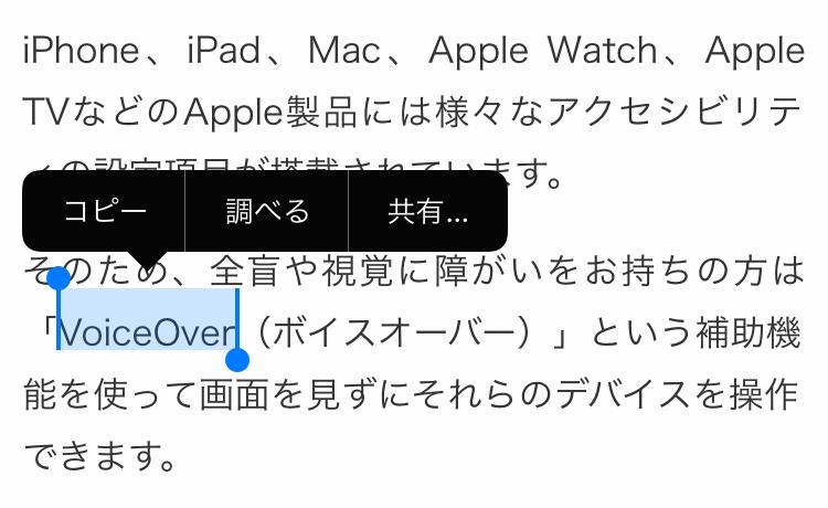 iOSの読み上げオフ