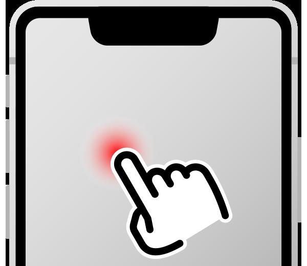 指一本で画面にタッチ(触れたまま)で要素を読み上げさせる