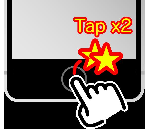 ホームボタンをダブルタップして簡易アクセスをオン