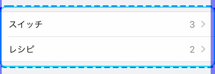 iPhoneの設定:スイッチコントロール(グループ選択破線)