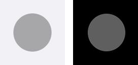 iPhoneの設定:ポインタのコントラスト-オフ