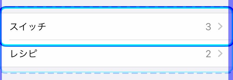 iPhoneの設定:スイッチコントロール(グループ内項目選択)