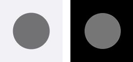 iPhoneの設定:ポインタのコントラスト-オン