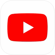 YouTubeのiPhoneアプリアイコン