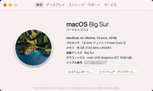 macOS Big Sur 11.2.2